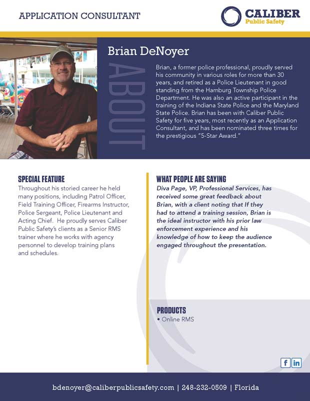 Brian DeNoyer Application Consultant